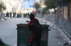 من المواجهات التي وقعت في مدينة الخليل اليوم الأحد
