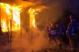 العثور على جثة متفحمة تعود لمسن اثر حريق شب داخل منزله بنابلس