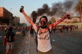 مقتل متظاهر عراقي بعد اصابته بقنبلة غاز في ساحة التحرير