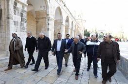 وفد اردني حكومي يزور المسجد الأقصى