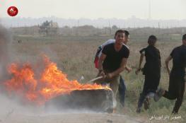 اصابات في قمع الاحتلال للمشاركين في مسيرات العودة بغزة