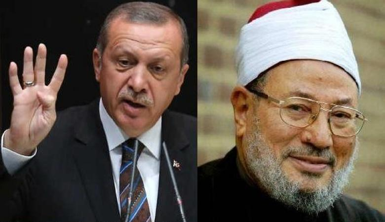 """القرضاوي : """"سينصر الله أردوغان ما دام المسلمون الصادقون معه"""
