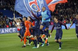 باريس سان جيرمان يتوج  بطلاً للدوري الفرنسي