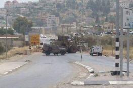 """الاحتلال يغلق مدخل """" بيتا """"  جنوب نابلس بالمكبعات الاسمنتية"""