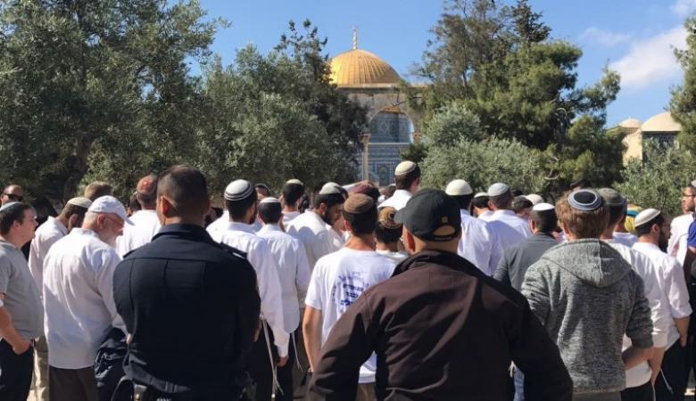 أكثر من 70 مستوطناً اقتحموا المسجد الأقصى صباح اليوم