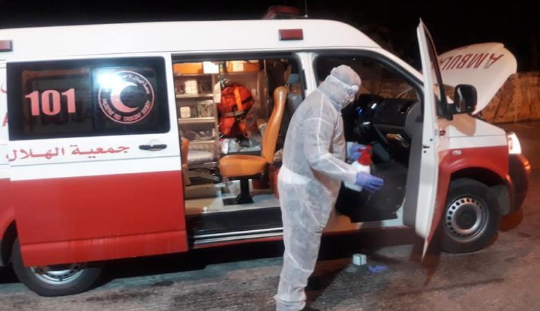 الهلال الأحمر : المسعف المصاب بكورونا لم يخالط مصابين او مشتبه باصابتهم