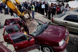الشرطة تتلف 76 مركبة غير قانونية وتقبض على 8 مطلوبين