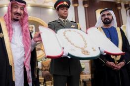 حاكم دبي يقلد الملك سلمان أعلى وسام في دولة الامارات