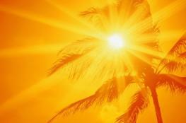 حالة الطقس : اجواء حارة وحارقة
