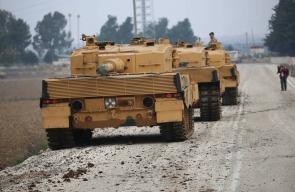 دبابات تركية تتأهب عسكريا للدخول الى عفرين السورية