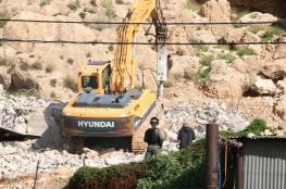 جرافات الاحتلال تهدم منزلا في الجفتلك بالأغوار الوسطى
