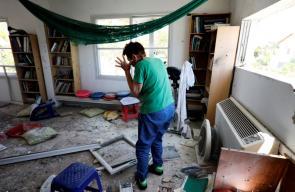 تضرر منازل المستوطنين بفعل اطلاق الصواريخ من قطاع غزة