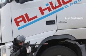 مواجهات بين الاحتلال والشبان في مسير ة خرجت نصرة للأقصى جنوب نابلس