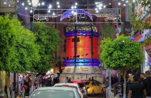 جانب من أسواق مدينة رام الله استعدادا لاستقبال عيد الفطر السعيد