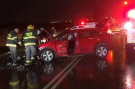 مصرع فتاة فلسطينية واصابة 7 آخرين في حادث سير مروع قرب الطيرة