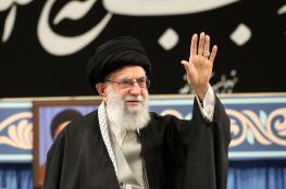 """خامنئي عن تظاهرات العراق : """"شعوب المنطقة مشمئزة من أمريكا"""""""