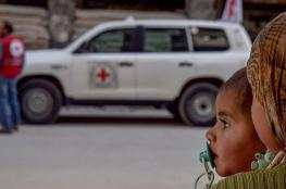 قافلة المساعدات الأممية تضطر للخروج من الغوطة دون إفراغ كامل حمولتها