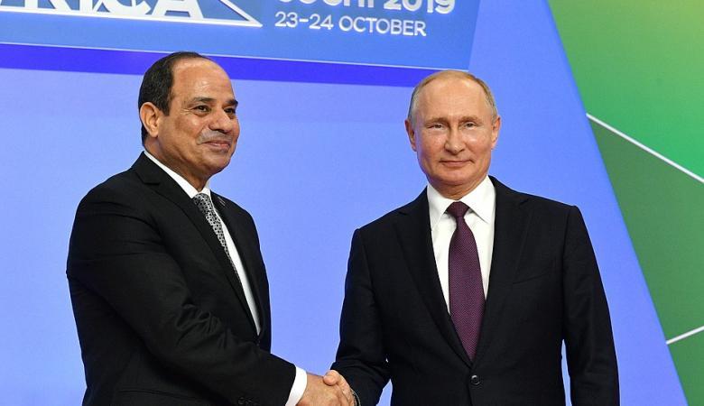 بوتين يشكر السيسي على جهوده في إنجاح القمة الأفريقية الروسية