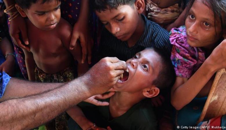 بدء حملة تطعيم ضد الكوليرا بمخيمات مسلمي  الروهينغا