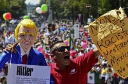 """مظاهرات حاشدة في المكسيك ضد الرئيس الامريكي """" ترامب """""""