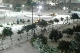 """الثلوج تكسو المحافظات الاردنية، اغلاق طرق وازدياد الطلب على الغاز  """"صور """""""