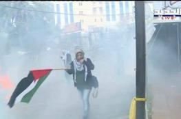 اصابات في تظاهرة غاضبة امام السفارة الأمريكية في لبنان