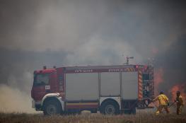 14 حريقا اشتعل بمستوطنات غلاف غزة نتيجة البالونات الحارقة