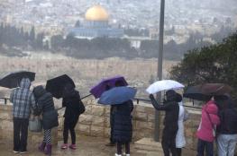 منفخض جوي علوي قادم الى فلسطين يومي الخميس والجمعة