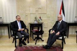 مباحثات بين رئيس الوزراء وميلادينوف حول المصالحة الفلسطينية