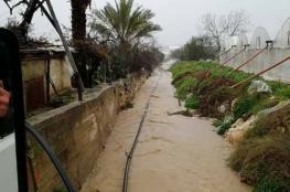 بالصور والفيديو ...فيضانات في جنين وطولكرم نتيجة الأمطار الغزيرة