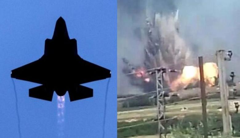 انفجارات وحرائق هائلة في لبنان بفعل طائرة اسرائيلية