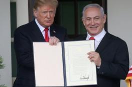 """إسرائيل تطلق اسم """"ترامب"""" على مستعمرة جديدة في الجولان"""
