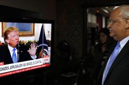 عريقات يؤكد : لا مفاوضات مع واشنطن دون اسقاط اعلان ترامب