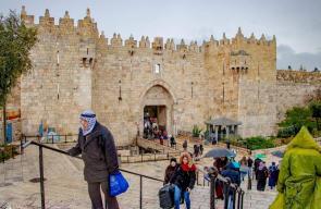 الاجواء الماطرة في القدس المحتلة