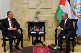اشتيه يطالب الامم المتحدة بالضغط على اسرائيل للافراج عن اموال المقاصة