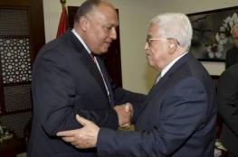 الرئيس عباس وشكري يبحثان تطورات القضية الفلسطينية