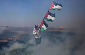 اكثر من 70 اصابة في صفوف الشبان على حدود غزة في ذكرى النكبة