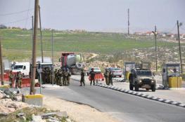"""الاحتلال يغلق طريق الخروج من رام الله عبر حاجز """"جبع """""""
