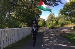 ناشط سويدي يواصل رحلته من السويد إلى فلسطين مشياً على الأقدام