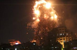 جيش الاحتلال يدمر مقر فضائية الأقصى بعدد من الصواريخ