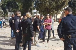 أكثر من 130 مستوطناً اقتحموا المسجد الاقصى المبارك صباح اليوم
