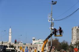 """تركيب كاميرات مراقبة على امتداد شارع القدس"""" 443"""""""