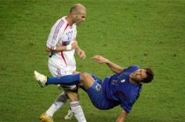 بعد 14 عاما..الكشف عن سبب نطحة زيدان في كأس العالم