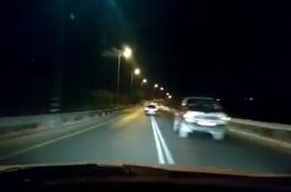 شرطة سلفيت تقبض على السائق الذي وثق قيادته الجنونية على الطرق يوم أمس