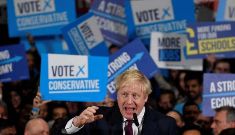 فوز جونسون بالأغلبية في البرلمان البريطاني