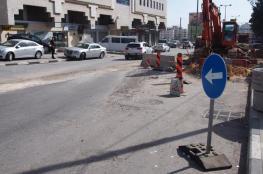 """بلدية البيرة توضح مجريات العمل بمشروع شارع """"القدس- البيرة"""""""