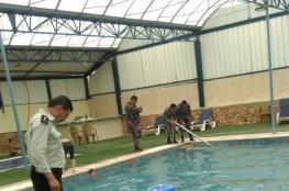 الدفاع المدني يغلق مسبحاً في جنين