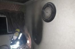 6 اصابات في حريق اندلع بشقة في جنين