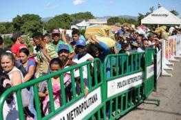 نزوح الآلاف من فنزويلا إلا كولومبيا طلبًا للمساعدات الإنسانية