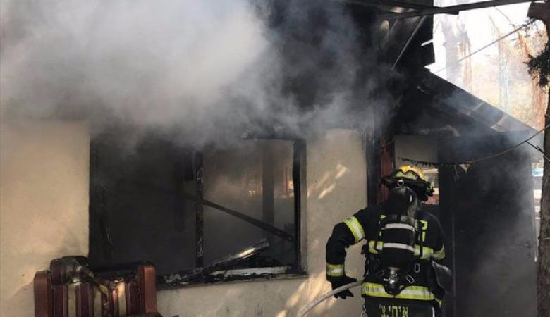 إصابة خطيرة إثر حريق منزل بمخيم شعفاط في القدس